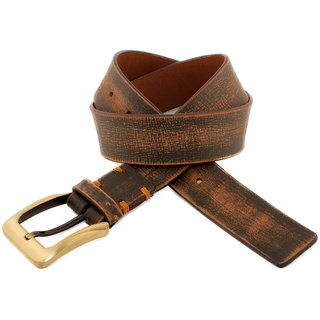 Honey Badger Distress Brown Leather Belt