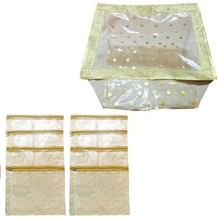 angelfish saree cover box 12 inch with 8 loose folders inside- AELKMB0788