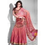 Light Pink Embroidery Charming Ready To Legenga Saree