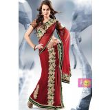 Modern Embroidered Patch Work  One Minute Saree