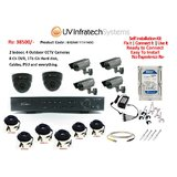 Independent House CCTV Complete Kit Of 6 Cameras , 8 Ch DVR 1 Tb Hard Disk