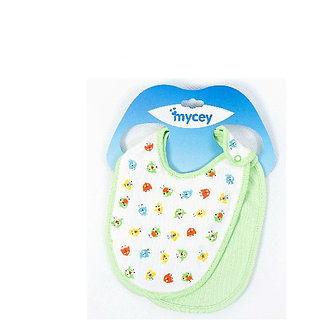 Cotton bibs- 2 piece set - green set
