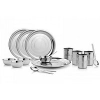 Power Plus  16 Pieces Dinner Set - 4 Dinner Plates, 4 Tumblers,4 Bowls, 4 Spoon