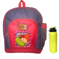 Candy Crush School Bag with Bottle Sipper