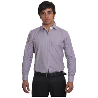 Solemio Purple Office Wear Formal Solid Shirt 3. MPR