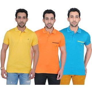 Fabnavitas Mens Casual Polo T-shirt Pack of 3