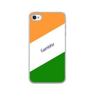 Flashmob Premium Tricolor DL Back Cover - iPhone 4/4S -Gambhir