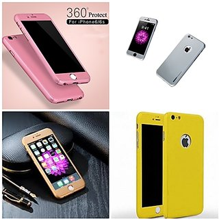 360 Proctective Cover with Tempered Glass for Iphone 6 6s