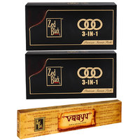 Zed Black 3 In 1 Monthly Pack Of 2 With Free Vaayu Incense Stick Worth Rs 75