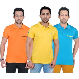 Fabnavitas Mens Casual Slim Fit Polo T-shirt Pack of 3