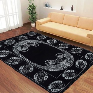 Demoda  Black Ethnic Design CarpetDiwan cover for Drawing roomBedroomLiving room45 by 725 Feet