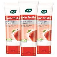 Joy Skin Fruits Softening Glow Fruit Face Pack 180 Ml (Pack Of 3 X 60 Ml)