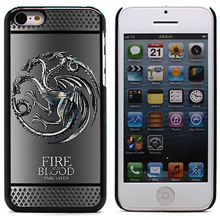 Unique Customise Design of Game of Thrown-Fire and Blood for Apple iPhone 5C