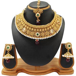 Soni Art Jewellery Traditional Wedding wear copper Necklace jewellery (0002)