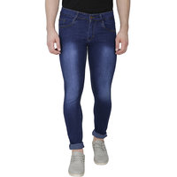 Routeen Slim Fit Blue Stretchable Jeans for Men
