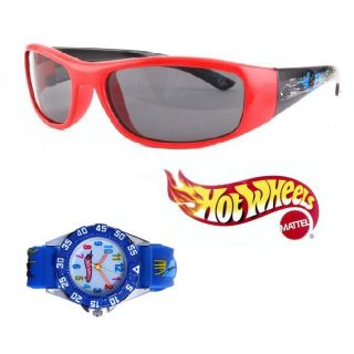 Hot Wheels Limited Edition Watch And Sunglasses For Kids (AI-1015-104-AI-1002)