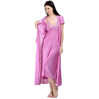 Long Nighty In Pink Color
