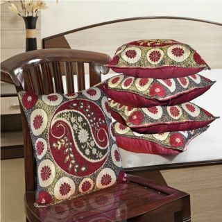Weaved Velvet Cushion Covers Set Of - 5 Pcs