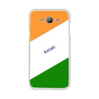 Flashmob Premium Tricolor DL Back Cover Samsung Galaxy E7 -Ketaki