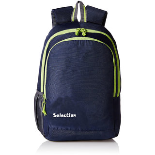 Selection Navy Blue Green Castle 27L Casual Backpack