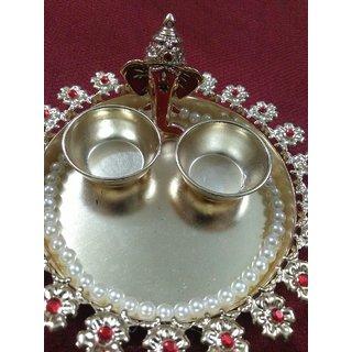 Decorative Metal Pooja Thali.