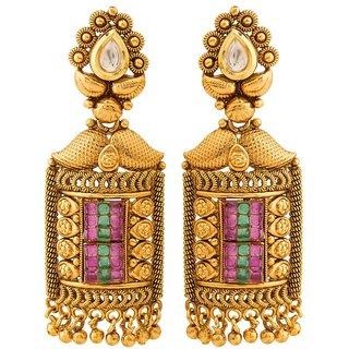 Jay Shreeya Creations Aesthetic Copper Dangle Earring