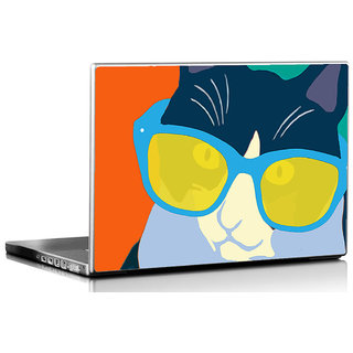 Seven Rays Cat Pop Art Laptop Skin