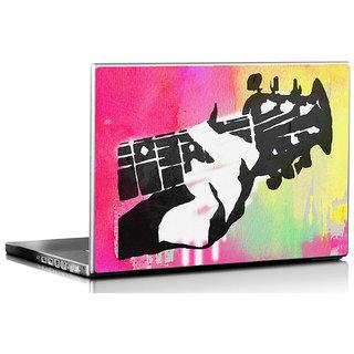 Seven Rays Guitar Pop Art Laptop Skin