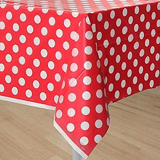 Indiagiftcart Red Polka dots Table cover