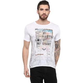 Fritzberg Mens Printed Round Neck T-shirt