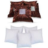 Bundle Cushion With Fillers Brown (10 Pcs Set)