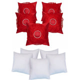 Sun Flower Cushion With Fillers Red (10 Pcs Set)