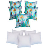 Digital Barby Print Cushion With Fillers Sky Blue (10 Pcs Set)