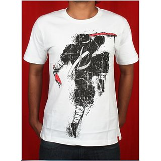 """Ninja"" White T Shirt By Cotton Candy"
