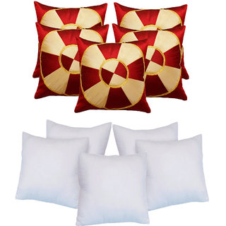 Footbal Design Cushion With Fillers Red (10 Pcs Set)