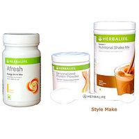 Herbalife Ultimate Weight Management Program Formula 1 Formula 3 - Chocolate (1 Shake 500Gm, 1 Protein Powder,1 AL )