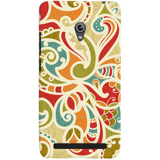 Oyehoye Floral Pattern Style Printed Designer Back Cover For Asus Zenfone 6 Mobile Phone - Matte Finish Hard Plastic Slim Case