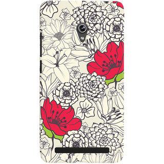 Oyehoye Floral Pattern Style Printed Designer Back Cover For Asus Zenfone 6 Mobile Phone - Matte Finish Hard Plastic Slim Case