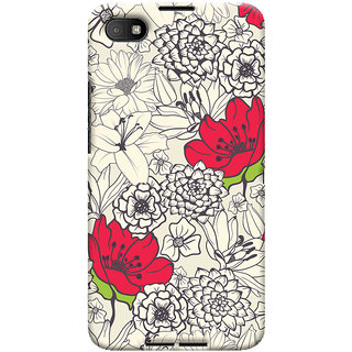 Oyehoye Floral Pattern Style Printed Designer Back Cover For Blackberry Z30 Mobile Phone - Matte Finish Hard Plastic Slim Case