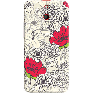 Oyehoye Floral Pattern Style Printed Designer Back Cover For HTC One E8 Mobile Phone - Matte Finish Hard Plastic Slim Case