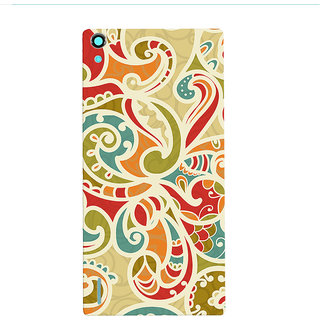 Oyehoye Floral Pattern Style Printed Designer Back Cover For Huawei Ascend P7 / Dual Sim Mobile Phone - Matte Finish Hard Plastic Slim Case