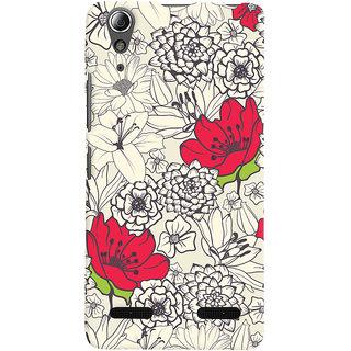 Oyehoye Floral Pattern Style Printed Designer Back Cover For Lenovo A6000 Mobile Phone - Matte Finish Hard Plastic Slim Case