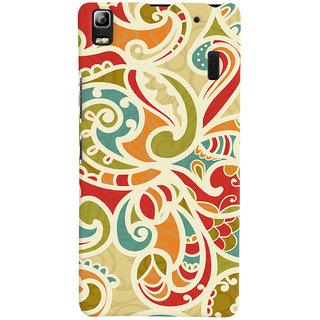 Oyehoye Floral Pattern Style Printed Designer Back Cover For Lenovo A7000 Mobile Phone - Matte Finish Hard Plastic Slim Case