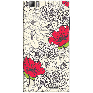 Oyehoye Floral Pattern Style Printed Designer Back Cover For Lenovo K900 Mobile Phone - Matte Finish Hard Plastic Slim Case