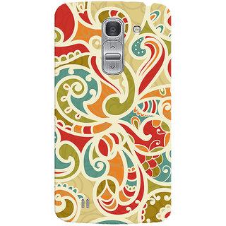 Oyehoye Floral Pattern Style Printed Designer Back Cover For LG Pro 2 / D838 Mobile Phone - Matte Finish Hard Plastic Slim Case