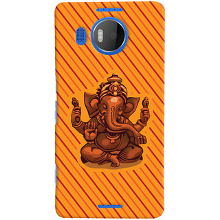 Oyehoye Lord Ganesha Ganpati Devotional Printed Designer Back Cover For Microsoft Lumia 950 XL Mobile Phone - Matte Finish Hard Plastic Slim Case