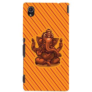 Oyehoye Lord Ganesha Ganpati Devotional Printed Designer Back Cover For Sony Xperia M4 Aqua/Dual Sim Mobile Phone - Matte Finish Hard Plastic Slim Case