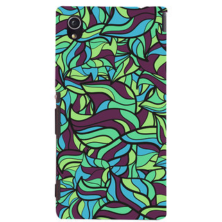 Oyehoye Modern Art Pattern Style Printed Designer Back Cover For Sony Xperia M4 Aqua/Dual Sim Mobile Phone - Matte Finish Hard Plastic Slim Case