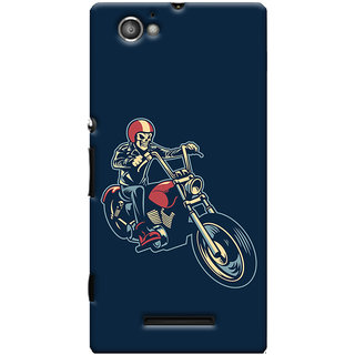 Oyehoye Bikers Or Riders Choice Printed Designer Back Cover For Sony Xperia M Mobile Phone - Matte Finish Hard Plastic Slim Case