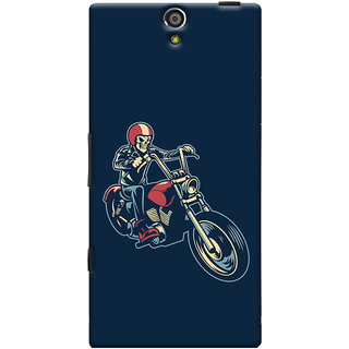 Oyehoye Bikers Or Riders Choice Printed Designer Back Cover For Sony Xperia S Mobile Phone - Matte Finish Hard Plastic Slim Case